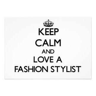 Behalten Sie Ruhe und Liebe ein Mode-Stylist Ankündigungen