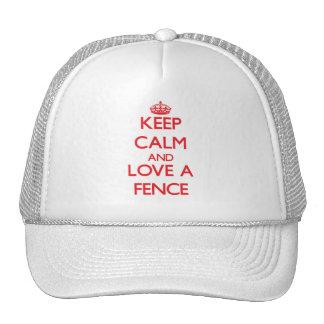 Behalten Sie Ruhe und Liebe ein Zaun Baseballcaps