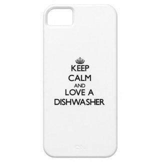 Behalten Sie Ruhe und Liebe eine Spülmaschine Schutzhülle Fürs iPhone 5