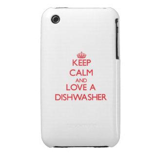 Behalten Sie Ruhe und Liebe eine Spülmaschine Case-Mate iPhone 3 Hülle