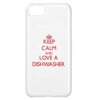 Behalten Sie Ruhe und Liebe eine Spülmaschine iPhone 5C Hülle
