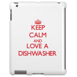 Behalten Sie Ruhe und Liebe eine Spülmaschine