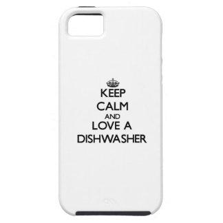 Behalten Sie Ruhe und Liebe eine Spülmaschine iPhone 5 Etuis
