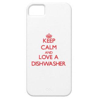 Behalten Sie Ruhe und Liebe eine Spülmaschine iPhone 5 Schutzhülle
