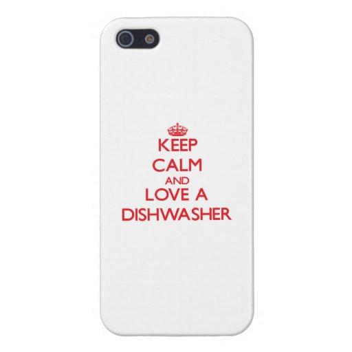 Behalten Sie Ruhe und Liebe eine Spülmaschine iPhone 5 Etui
