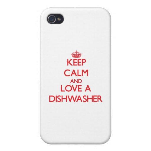 Behalten Sie Ruhe und Liebe eine Spülmaschine iPhone 4 Hülle