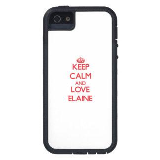 Behalten Sie Ruhe und Liebe Elaine iPhone 5 Etuis