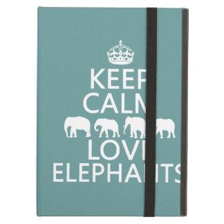 Behalten Sie Ruhe-und Liebe-Elefanten