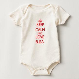Behalten Sie Ruhe und Liebe Elisa Baby Strampler
