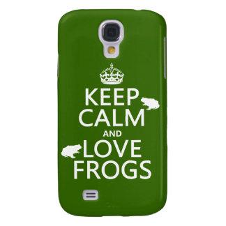 Behalten Sie Ruhe-und Liebe-Frösche (irgendeine Galaxy S4 Hülle