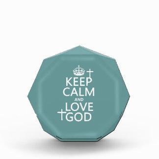 Behalten Sie Ruhe-und Liebe-Gott - alle Farben Auszeichnung