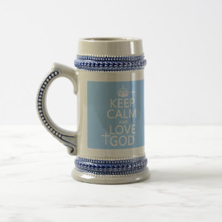 Behalten Sie Ruhe-und Liebe-Gott - alle Farben Bierglas