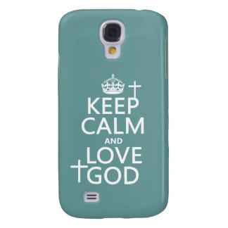 Behalten Sie Ruhe-und Liebe-Gott - alle Farben Galaxy S4 Hülle