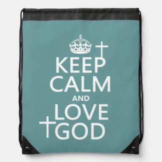 Behalten Sie Ruhe-und Liebe-Gott - alle Farben Turnbeutel