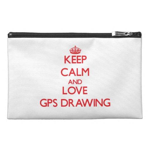 Behalten Sie Ruhe und Liebe Gps-Zeichnen