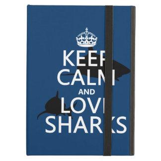 Behalten Sie Ruhe-und Liebe-Haifische
