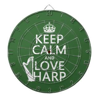 Behalten Sie Ruhe-und Liebe-Harfe (irgendeine Dartscheibe
