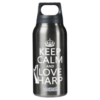 Behalten Sie Ruhe-und Liebe-Harfe (irgendeine Isolierte Flasche