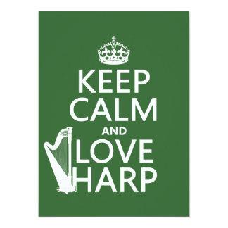 Behalten Sie Ruhe-und Liebe-Harfe (irgendeine Karte