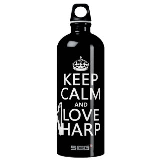Behalten Sie Ruhe-und Liebe-Harfe (irgendeine Wasserflasche
