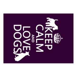 Behalten Sie Ruhe-und Liebe-Hunde - alle Farben Jumbo-Visitenkarten