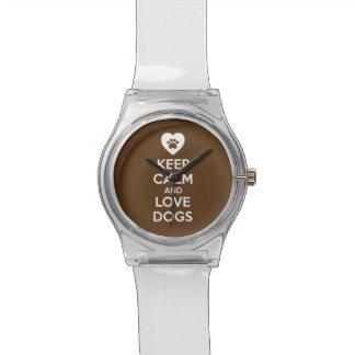 Behalten Sie Ruhe-und Liebe-Hunde Armbanduhr