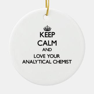 Behalten Sie Ruhe und Liebe Ihr analytischer Ornamente