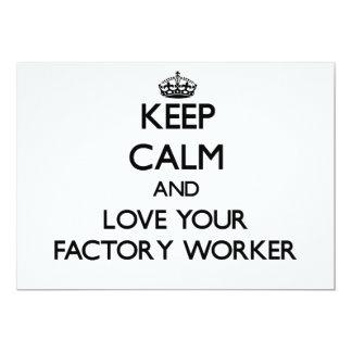 Behalten Sie Ruhe und Liebe Ihr Arbeiter Ankündigungen