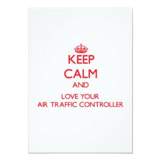 Behalten Sie Ruhe und Liebe Ihr Fluglotse Ankündigungen