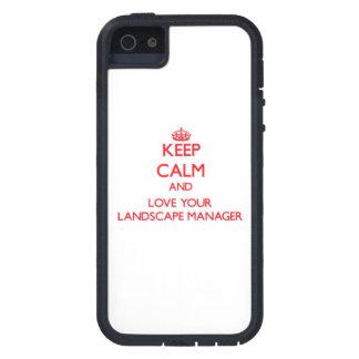 Behalten Sie Ruhe und Liebe Ihr Landschaftsmanager iPhone 5 Hüllen