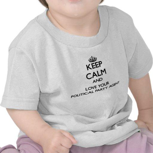 Behalten Sie Ruhe und Liebe Ihr politischer Tshirts