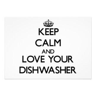 Behalten Sie Ruhe und Liebe Ihre Spülmaschine Einladungskarte