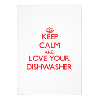 Behalten Sie Ruhe und Liebe Ihre Spülmaschine Einladungskarten