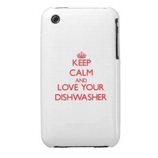 Behalten Sie Ruhe und Liebe Ihre Spülmaschine iPhone 3 Covers