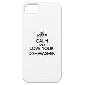 Behalten Sie Ruhe und Liebe Ihre Spülmaschine iPhone 5 Schutzhüllen