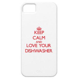 Behalten Sie Ruhe und Liebe Ihre Spülmaschine Etui Fürs iPhone 5