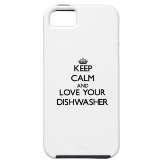 Behalten Sie Ruhe und Liebe Ihre Spülmaschine iPhone 5 Hüllen