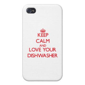 Behalten Sie Ruhe und Liebe Ihre Spülmaschine iPhone 4/4S Hülle