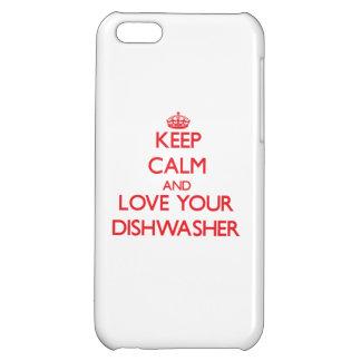 Behalten Sie Ruhe und Liebe Ihre Spülmaschine Hüllen Für iPhone 5C