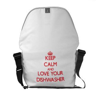 Behalten Sie Ruhe und Liebe Ihre Spülmaschine Kurier Tasche