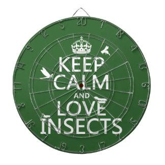 Behalten Sie Ruhe-und Liebe-Insekten (irgendeine Dartscheibe