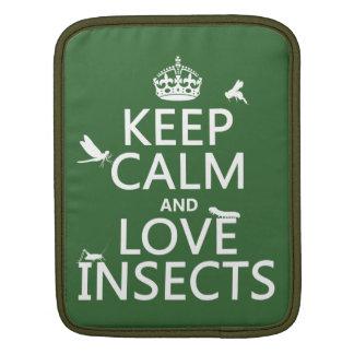 Behalten Sie Ruhe-und Liebe-Insekten (irgendeine Sleeve Für iPads