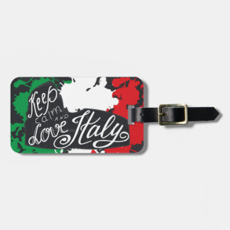 Behalten Sie Ruhe und Liebe Italien Kofferanhänger