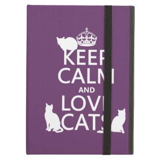 Behalten Sie Ruhe-und Liebe-Katzen (in irgendeiner