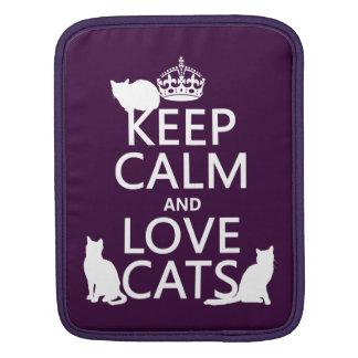 Behalten Sie Ruhe-und Liebe-Katzen (in irgendeiner iPad Sleeve