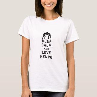 Behalten Sie Ruhe und Liebe Kenpo T-Shirt