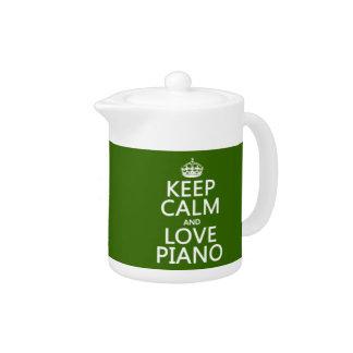 Behalten Sie Ruhe-und Liebe-Klavier (irgendeine