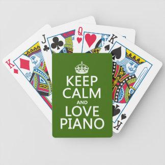 Behalten Sie Ruhe-und Liebe-Klavier (irgendeine Bicycle Spielkarten