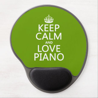 Behalten Sie Ruhe-und Liebe-Klavier (irgendeine Gel Mousepad