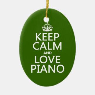Behalten Sie Ruhe-und Liebe-Klavier (irgendeine Keramik Ornament